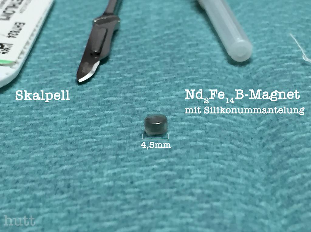 Magnet vor der Implantation